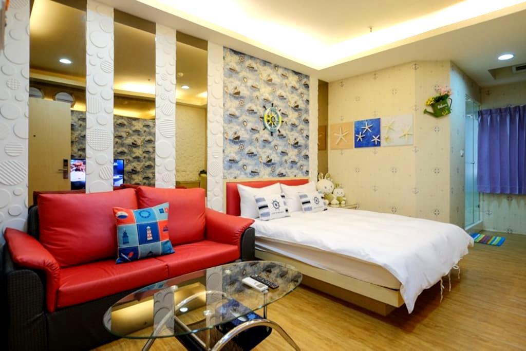 三多商圈站旁 航海家 (或 愛旅行)2人房 - Lingya District - Appartement en résidence
