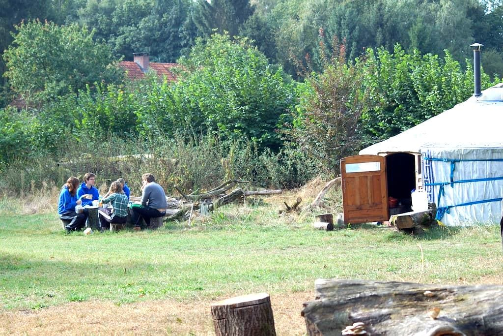 Overnachten in een Mongoolse tent - Afferden, Limburg - Yurt