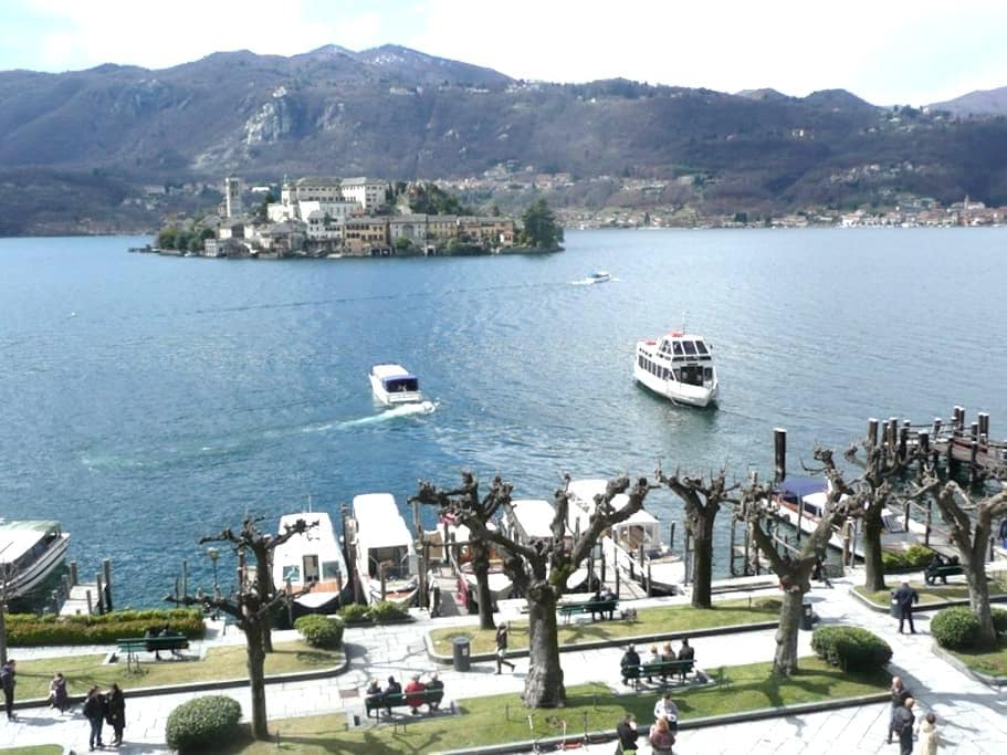 Venere with fanastic island view! - Orta San Giulio - Departamento
