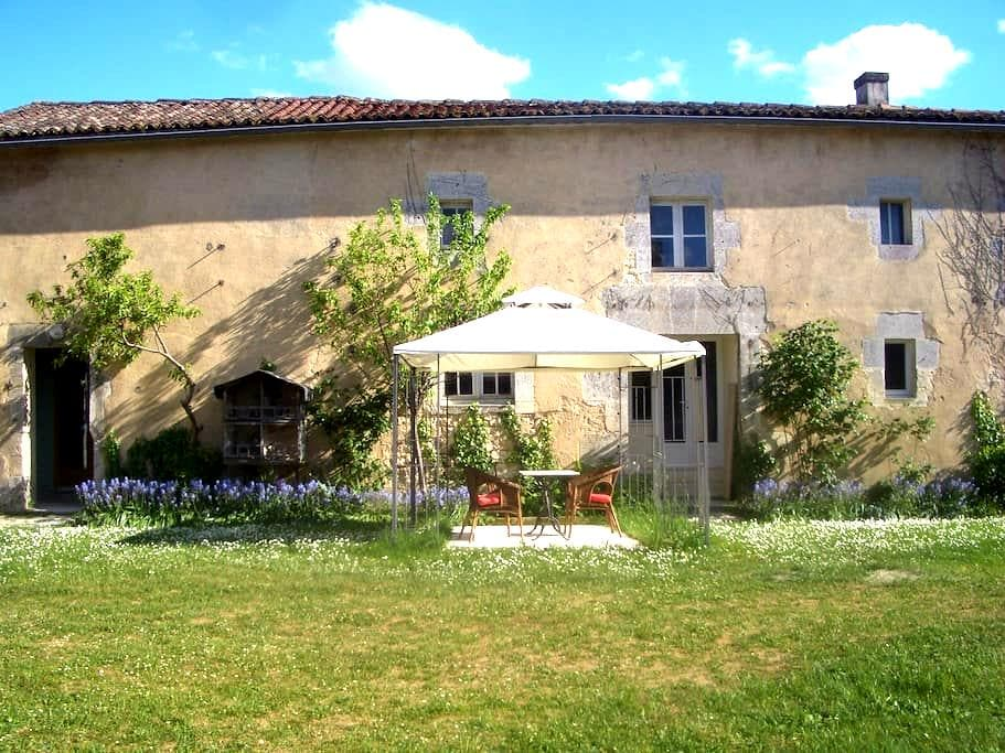East wing of an elegant town house - Châteauneuf-sur-Charente - Apartamento