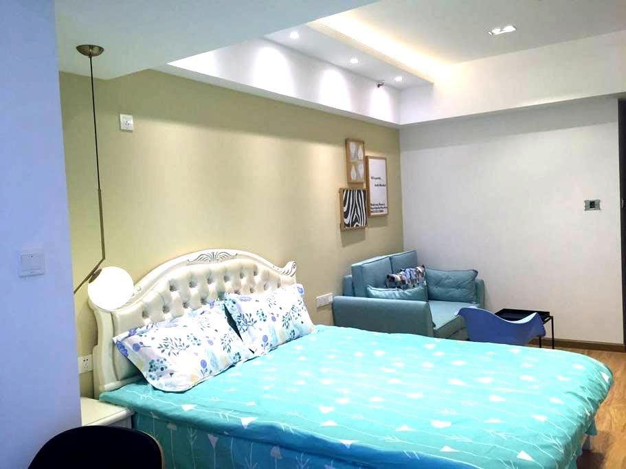 长沙岳麓区奥克斯渔人码头近江景优雅舒适大床房 - Changsha - Lägenhet