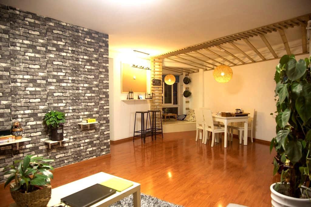 头头的家庭旅馆(交友并分享旅游经验,不止是住宿 wx+tt480891 - Nanjing - Appartement