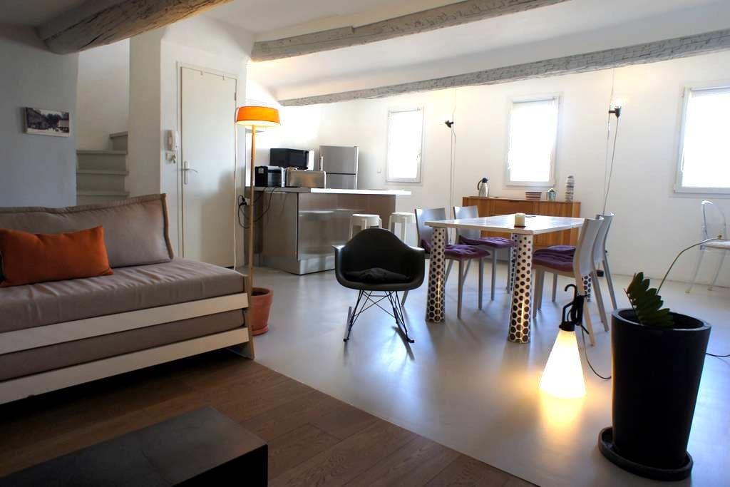 Duplex under the roofs - Old Aix - Aix-en-Provence - Loft