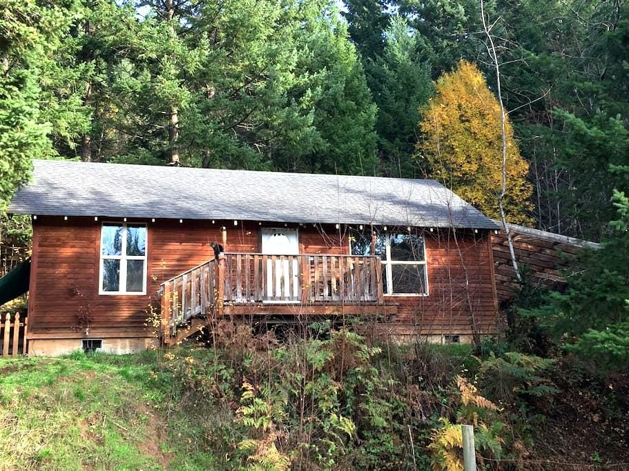 Cabin in the Woods - White Salmon - Houten huisje