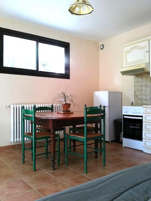 Appartement très calme avec jardin proche d'Alès - Saint-Privat-des-Vieux - Apartemen