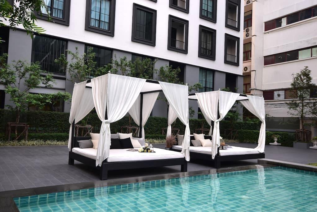 Luxury Condo 5mins walk to BTS,Siam,Wifi - Bangkok - Apto. en complejo residencial