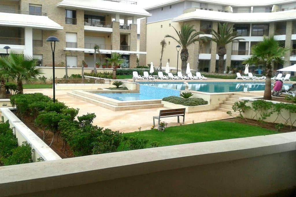 Apt avec piscine à côté de la plage - Bouknadel  - Appartement