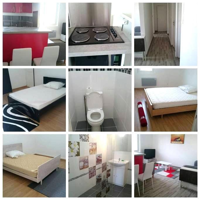 appartement avec 3 chambres privées agen centre - Agen - Apartment