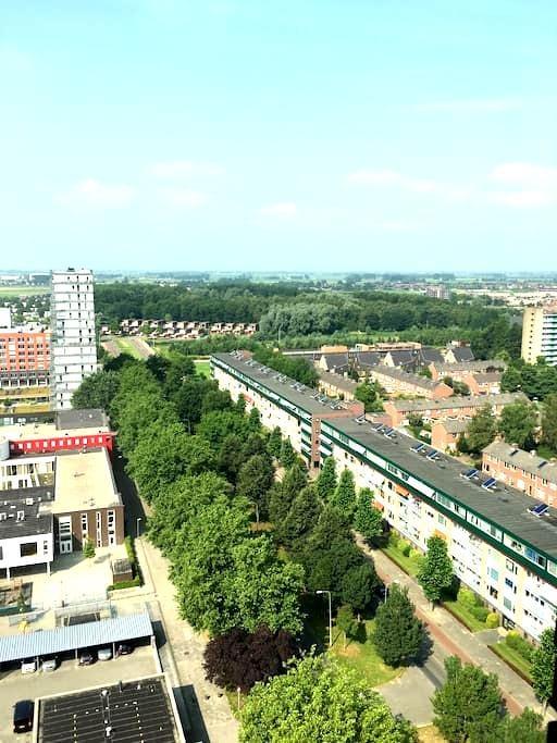 Penthouse in de stad Groningen. - Groningen - Apartament