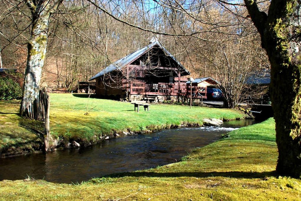 Chalet aan bosrand en riviertje - Bièvre (Graide) - Chalé