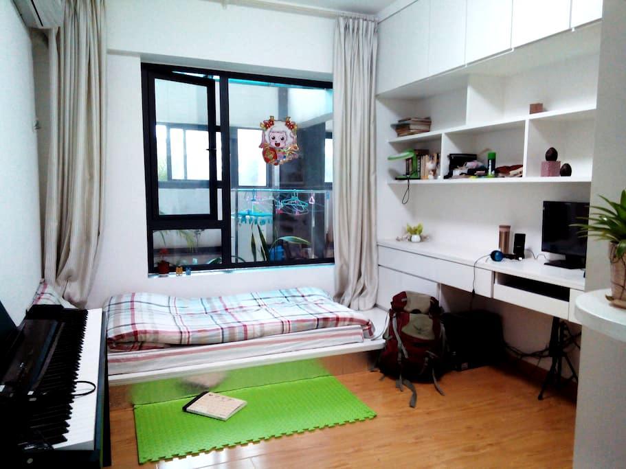 (华大附近+老城边上)的高尚住宅花园--清新榻榻米单人房(可加床) - Quanzhou - ที่พักพร้อมอาหารเช้า