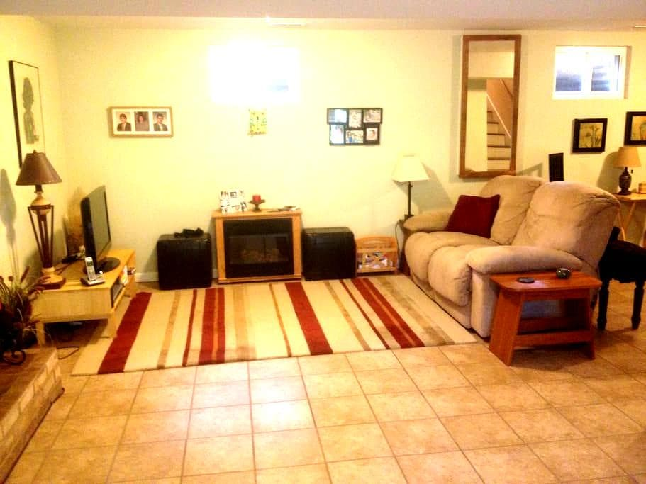 Apartment/family room with private entrance, bath. - Christiansburg - Hus