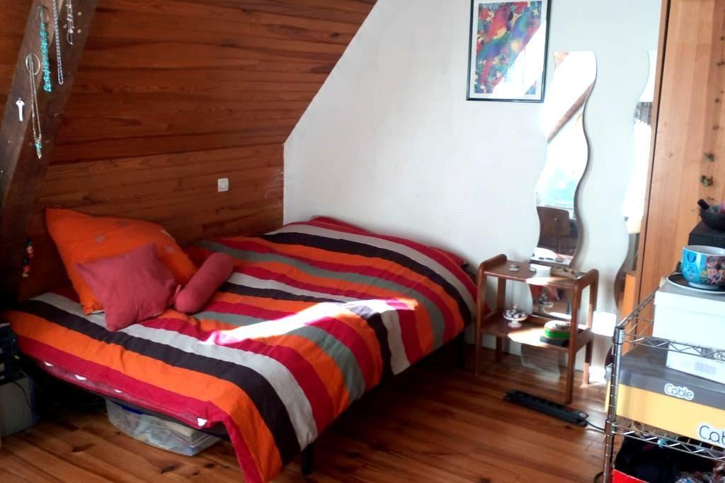 Chambre double dans grande maison avec jardin - Laloubère - Huis