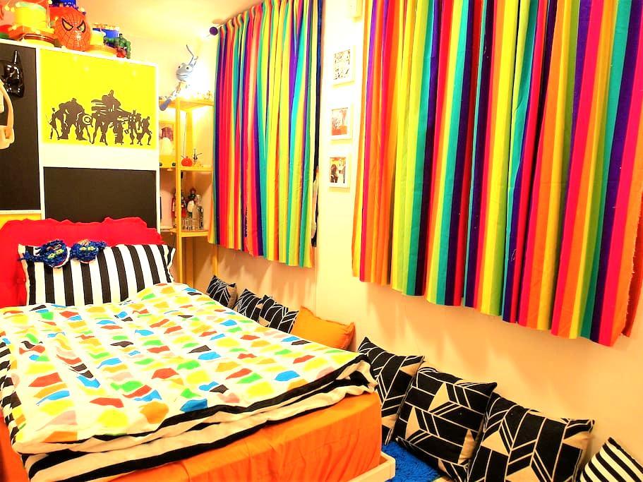 童話情境單人床房型,價格最低廉但環境最好的度假屋,可1-2人入住! - Beitou District - Pondok alam
