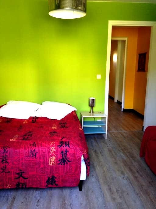 Chambre en R-D-C d'une maison accès direct jardin - Cahors - Talo