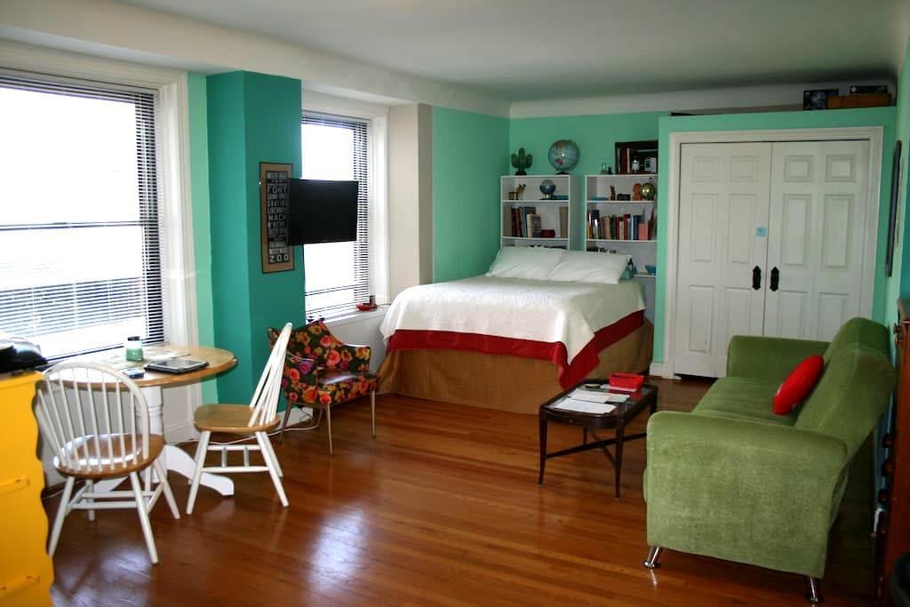 Cozy Apt Luxury bldg - DIA! Midtown - デトロイト - アパート