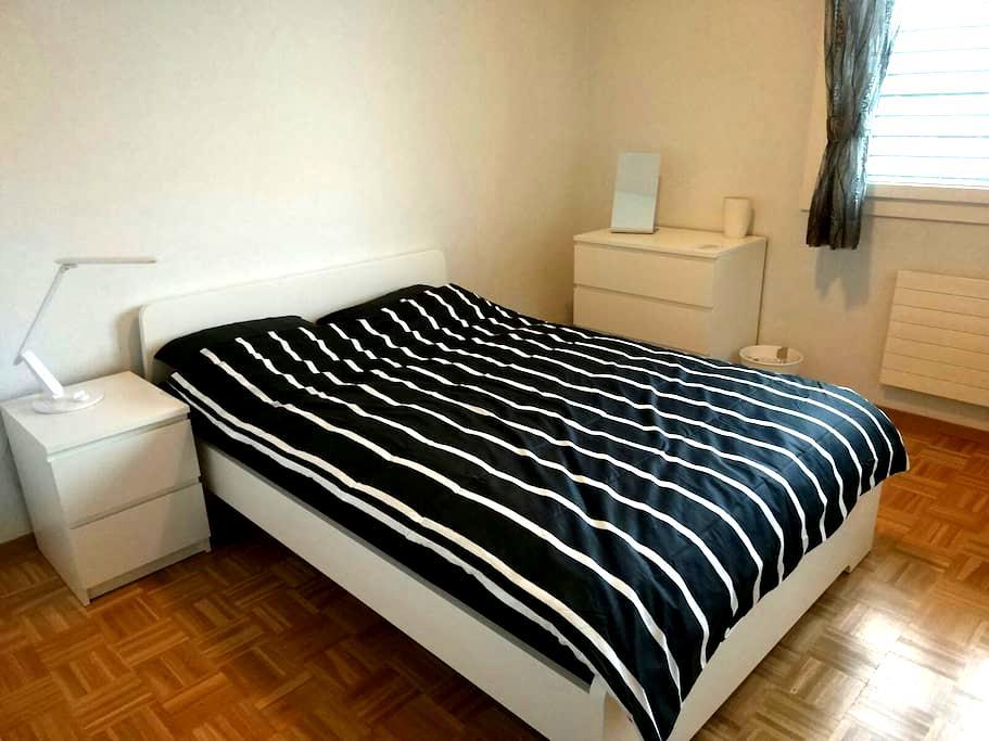 Chambre double à Genève, au calme. - Lancy - Appartement