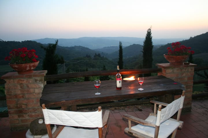 Stunning Tuscan apartment for 2 - Greve in Chianti - Byt