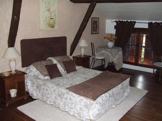 Nice and peaceful room in house of character - Monclar-de-Quercy - Casa