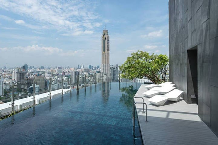 City Center Luxury Near MBK, Siam, WiFi, Pool, Gym - Bangkok