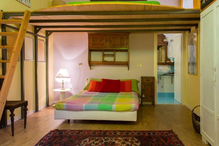 Monolocale indipendente e spazioso in seminterrato - Romano D'ezzelino - Apartamento
