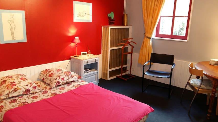 Chambre et SDB privées, calme de la campagne - Walincourt-Selvigny - Huis