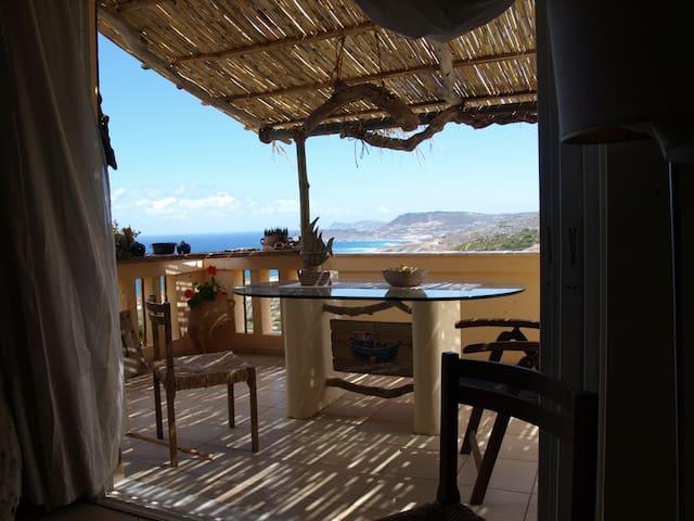 Seaview apt close to Vai and trekking ham4DX - Agia Fotia - Appartement