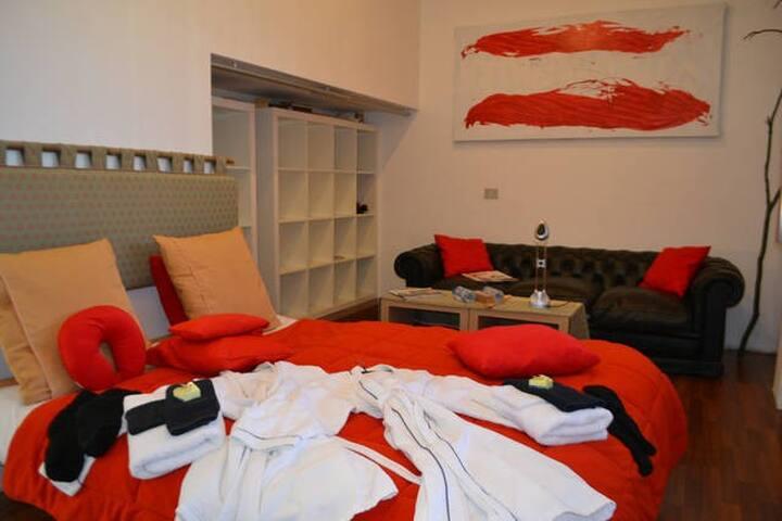 Ruime kamer(s) in modern huis. (zonder ontbijt) - Kortrijk - Huvila