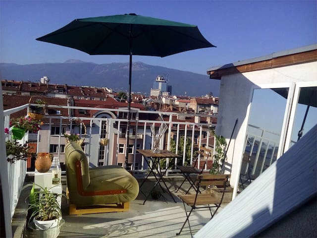 Rooftop apartment big terace perfect Sofia center - Sofia - Loft