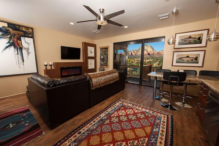 Sedona's Best Views, Pvt 2BR Suite - Sedona - Bed & Breakfast