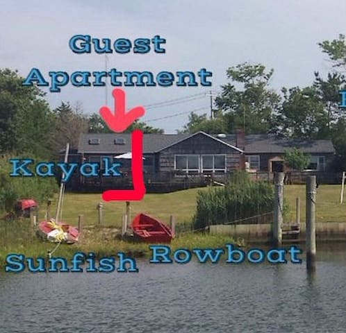 Waterfront Guest Apartment - near Hamptons - East Moriches - Appartement