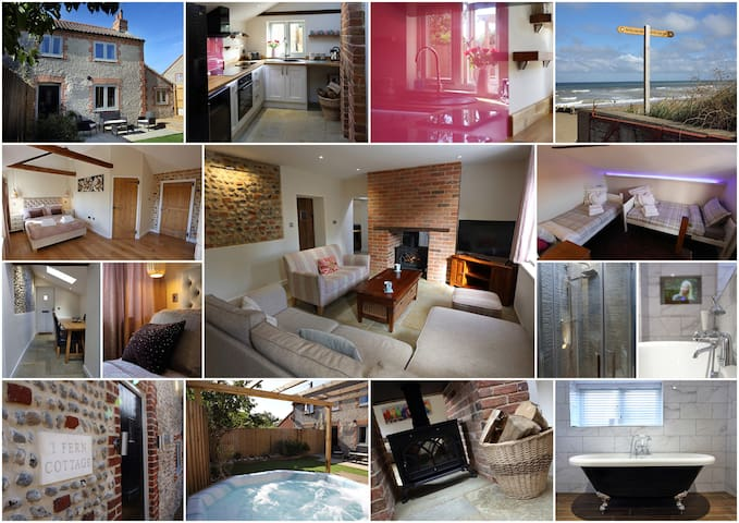 Traditional flint cottage 2 mins - beaches & pub! - Bacton - Hus