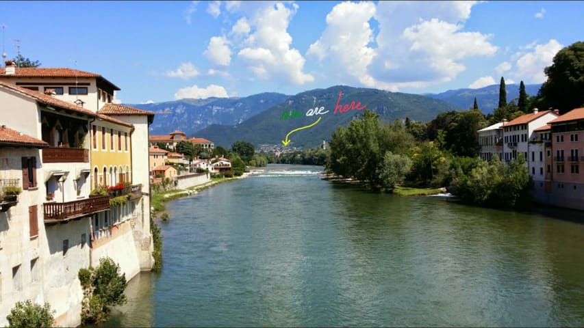 Resort: Two Rooms Apt in peaceful hill country - Pove del Grappa - Leilighet