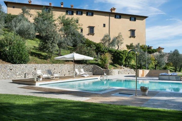 15° Century Villa of Medici Family, amazing pool - Poggetto - 城堡