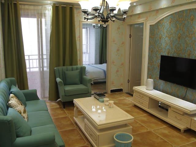 花果园国际中心旁纯地中海风2室 - Guiyang Shi - Lägenhet
