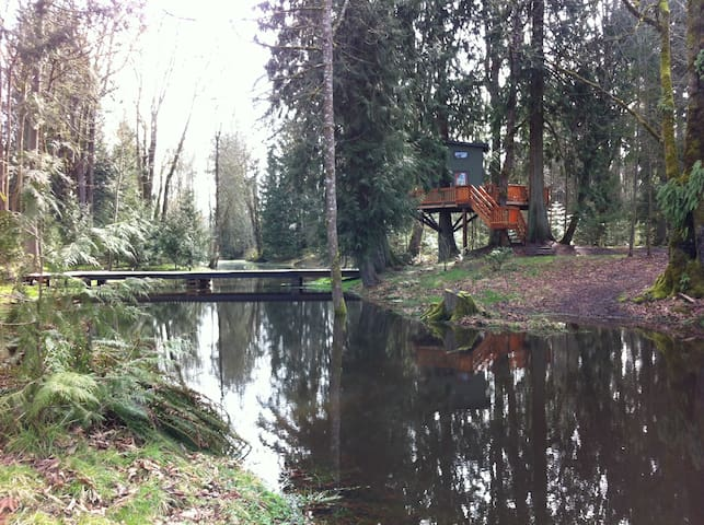 Treehouse with Panoramic Views - Olympia - Boomhut