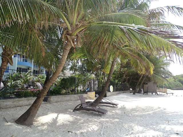 Cowrie Beach serviced Seafront designer studio - Mombasa - Pis