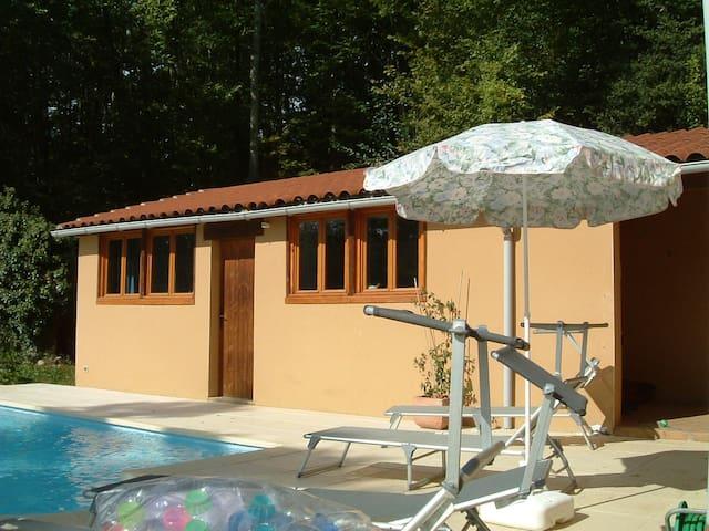 Poolside annexe with mountain views - Saint-Laurent-de-Neste - Huis