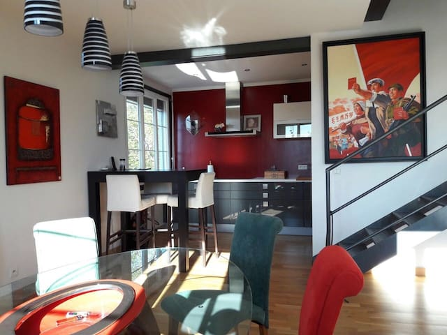 Beautiful well decorated Duplex with office - Sciez - Appartement