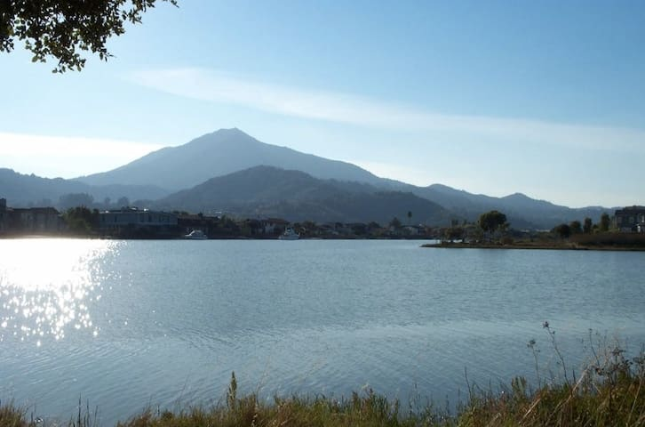 Beautiful condo on the water looking at Mount Tam - Larkspur - Pis