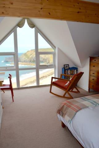 Beachside sea view lux ensuite, Portreath Cornwall - Portreath - Casa