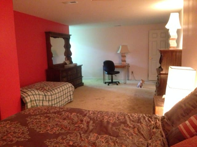 Spacious living space, private room, full bath - Cincinnati - Hus