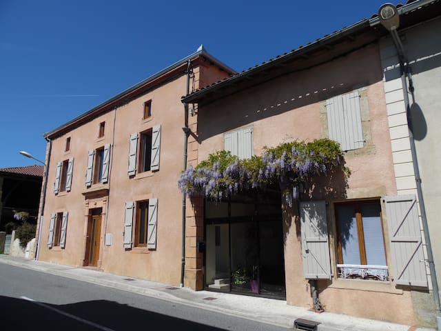 chambre lumineuse + salle de bain privé + salon TV - Cassagnabère-Tournas - House