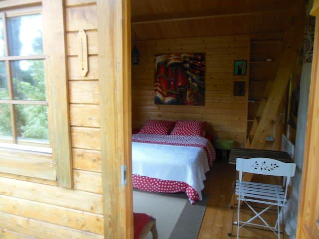 Cute wood cottage near lake & ocean - Vielle-Saint-Girons - Alpstuga