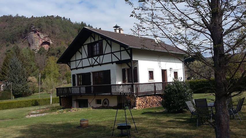 Gîte du Maimont, situation exceptionnelle, sauna - Obersteinbach - Huis