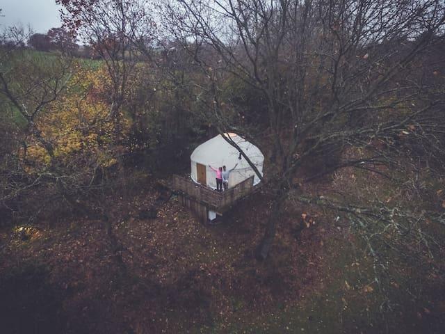 Romantic Yurt for 2 - Michaelchurch Escley - Rundzelt