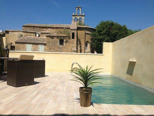 Maison 4 chambres 8 p avec piscine - Bouchet - Hus