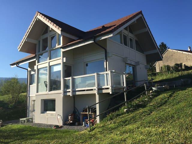 Maison en bois à 20 km de Genève - Pougny - Huis
