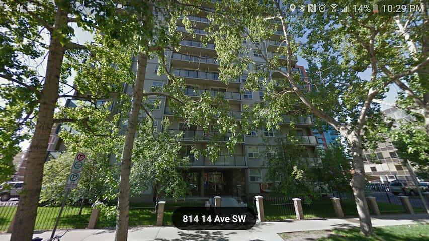 spacious quiet apartment downtown - Calgary - Leilighet