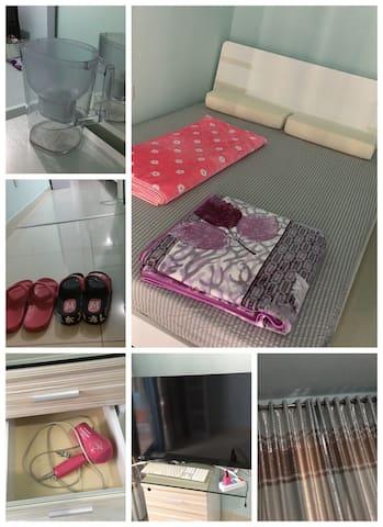 清洁的独立单身公寓,拱北,澳门海关珠海轻轨站情侣路3分钟,20层 - Zhuhai - Wohnung